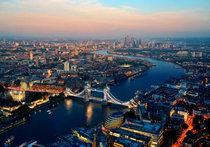 Off Market Properties Image of London at night